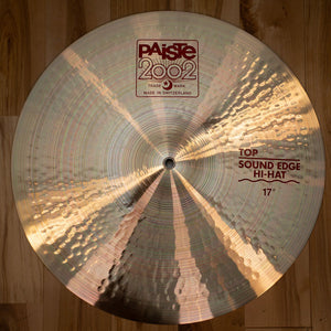 "PAISTE 17"" 2002 SERIES SOUND EDGE HI HAT CYMBALS (PAIR) (EX GONG ROOM)"