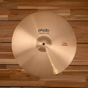 "PAISTE 17"" FORMULA 602 THIN CRASH CYMBAL"