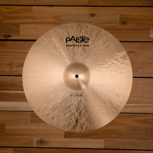 "PAISTE 18"" FORMULA 602 MODERN ESSENTIALS CRASH CYMBAL SN0005"
