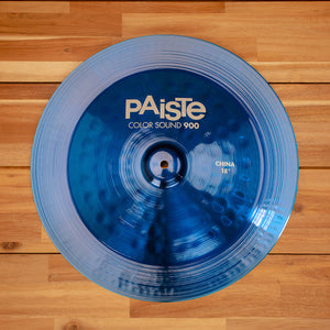 "PAISTE 18"" 900 COLOR SOUND SERIES BLUE CHINA CYMBAL SN0312"