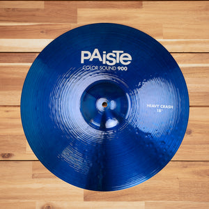 "PAISTE 18"" 900 COLOR SOUND SERIES BLUE HEAVY CRASH CYMBAL SN0311"