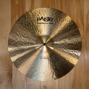 "PAISTE 18"" FORMULA 602 MODERN ESSENTIALS CRASH CYMBAL (PRE-LOVED)"