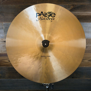 "PAISTE 18"" MASTERS EXTRA THIN CRASH CYMBAL"