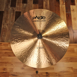"PAISTE 19"" FORMULA 602 MODERN ESSENTIALS CRASH CYMBAL SN0013"