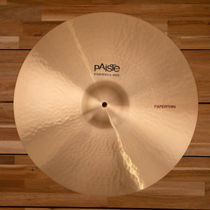 "PAISTE 20"" FORMULA 602 PAPER THIN CRASH CYMBAL"