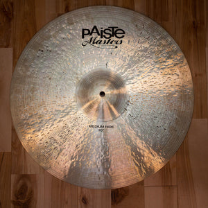 "PAISTE 20"" MASTERS MEDIUM RIDE CYMBAL (EX GONG ROOM)"