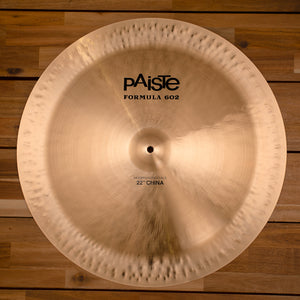 "PAISTE 22"" FORMULA 602 MODERN ESSENTIALS CHINA CYMBAL SN0008"
