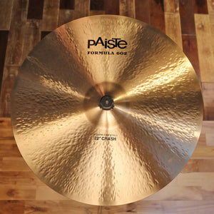 "PAISTE 22"" FORMULA 602 MODERN ESSENTIALS CRASH CYMBAL SN0015"