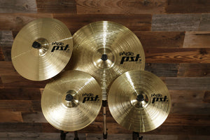 PAISTE PST 3 UNIVERSAL CYMBAL SET / PACK (14 HI-HATS, 16 CRASH & 20 RIDE)