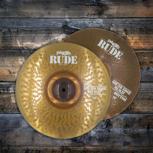 "PAISTE 14"" RUDE SOUND EDGE HI-HAT CYMBALS (PRE-LOVED)"