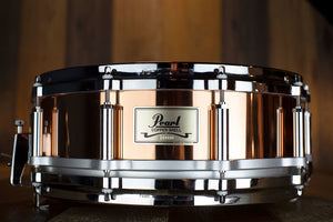 PEARL FREE FLOATING SYSTEM (FFS) 14 X 5 COPPER SHELL SNARE DRUM (PRE-LOVED)