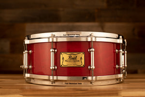 PEARL 14 X 5 MASTERS MMX LIMITED EDITION MAPLE SNARE DRUM, SEQUOIA RED (PRE-LOVED)