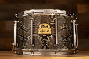PEARL 14 X 8 VINNIE PAUL SIGNATURE SNARE DRUM, MAPLE SHELL, SNAKESKIN FINISH (PRE-LOVED)