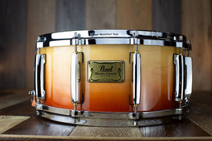 PEARL 14 X 6.5 MASTERS MMX MAPLE SNARE DRUM, SUNRISE FADE (PRE-LOVED)