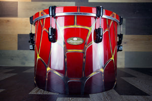 PEARL MASTERWORKS 20 X 14 GONG DRUM, SPIDERWEB GRAPHICS OVER FADE LACQUER
