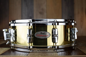 PEARL 14 X 5 REFERENCE RFB1450 3MM SEAMLESS BRASS SHELL SNARE DRUM (PRE-LOVED)