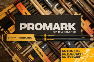 PROMARK ANTON FIG ACTIVEGRIP 595 HICKORY ROUND WOOD TIP DRUM STICKS