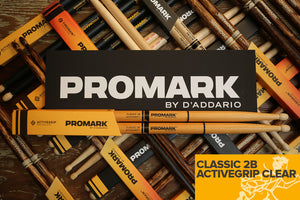 PROMARK CLASSIC 2B ACTIVEGRIP CLEAR DRUM STICKS