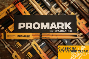 PROMARK CLASSIC 5A ACTIVEGRIP CLEAR DRUM STICKS