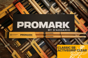 PROMARK CLASSIC 5B ACTIVEGRIP CLEAR DRUM STICKS