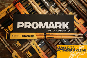 PROMARK CLASSIC 7A ACTIVEGRIP CLEAR DRUM STICKS