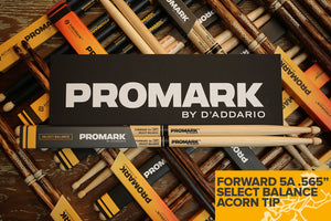 "PROMARK FORWARD 5A .565"" HICKORY ACORN WOOD TIP DRUM STICK"