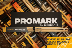 "PROMARK FORWARD 5B .595"" ACORN WOOD TIP DRUM STICKS"