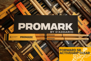 PROMARK FORWARD 5B ACTIVEGRIP CLEAR DRUM STICKS