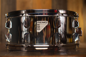 REMO 14 X 6 BRAVO ACOUSTICON 516 SNARE DRUM, QUADURA MIRROR CHROME FINISH, (PRE-LOVED)