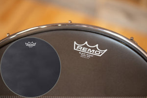 "REMO AMBASSADOR BLACK SUEDE SNARE SIDE DRUM HEAD (SIZES 13"" to 14"")"