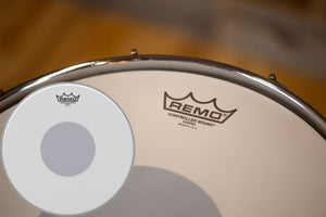 "REMO CONTROLLED SOUND (CS DOT) COATED BLACK DOT DRUM HEAD (SIZES 10"" TO 18"")"
