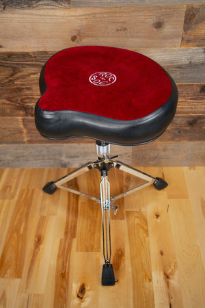 ROC N SOC ORIGINAL MOTOR CYCLE (SADDLE) DRUM THRONE, RED