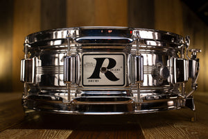 ROGERS 14 X 5 DYNA-SONIC BIG R BADGE, CHROME ON BRASS, EARLY 70'S (PRE-LOVED)