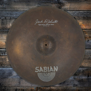"SABIAN 22"" JACK DE JOHNETTE SIGNATURE RIDE CYMBAL (PRE-LOVED)"