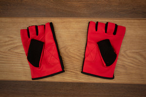 SHAW FINGERLESS DRUMMER GLOVES, LARGE, NEW RED COLOUR