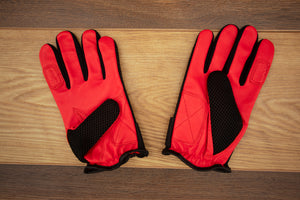 SHAW FULL FINGER DRUMMER GLOVES LARGE, NEW RED COLOUR