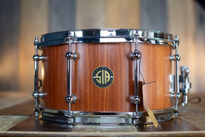 SIA 13 X 7 BLUE GUM SOLID STAVE BLOCK SHELL SNARE DRUM