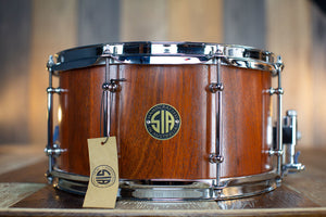 SIA 13 X 7 JARRAH SOLID STAVE BLOCK SHELL SNARE DRUM