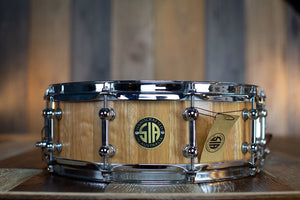 SIA 14 X 5 SPOTTED GUM SOLID STAVE BLOCK SHELL SNARE DRUM
