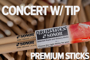 SONOR CONCERT WOOD TIP DRUM STICKS BY VIC FIRTH
