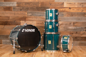 SONOR FORCE 3000 5 PIECE SCANDINAVIAN BIRCH DRUM KIT, GREEN LACQUER (PRE-LOVED)