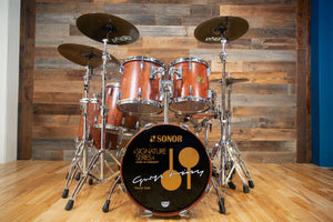 SONOR HORST LINK SIGNATURE HEAVY BEECH DRUM KIT, 5 PIECE, AFRICAN BUBINGA (PRE-LOVED)