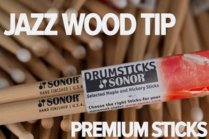 SONOR JAZZ WOOD TIP DRUM STICKS BY VIC FIRTH