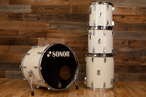 SONOR PHONIC PLUS 4 PIECE DRUM KIT, GLOSS WHITE (PRE-LOVED)