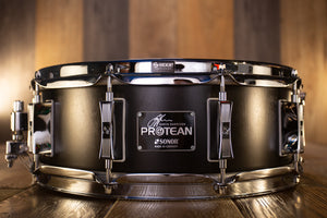 SONOR SIGNATURE GAVIN HARRISON 14 X 5.25 PROTEAN SNARE DRUM PREMIUM EDITION WITH HARDCASE, DAMPENERS AND ALTERNATIVE SNARE WIRES