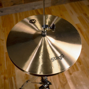 "STAGG 14"" SINGLE HAMMERED SH MEDIUM HI-HAT CYMBALS (PAIR)"