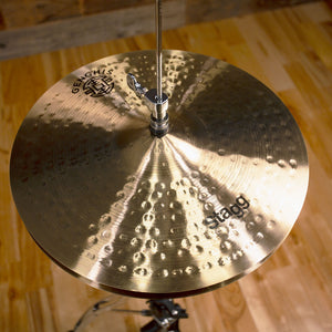 "STAGG 15"" GENGHIS CLASSIC MEDIUM HI-HAT CYMBALS (PAIR) SN0035"