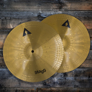 "STAGG AXA COPPER - STEEL ALLOY INNOVATION  13"" HI-HAT CYMBAL PAIR"