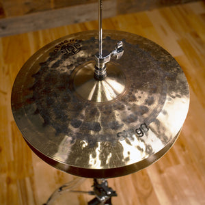 "STAGG 14"" GENGHIS DUAL MEDIUM HI-HAT CYMBALS (PAIR) (EX-DEMO)"