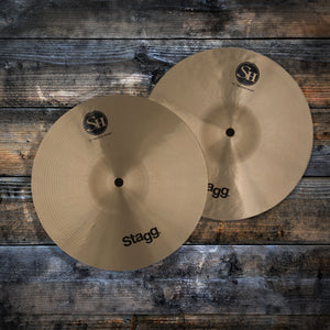 "STAGG 10"" SINGLE HAMMERED SH MEDIUM HI-HAT CYMBALS (PAIR)"